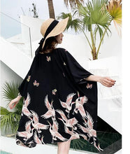 Load image into Gallery viewer, Kimono Crane Long Cardigan - GoinsShop