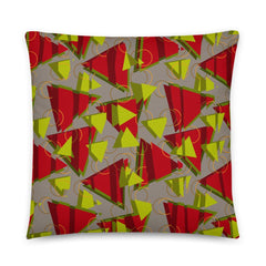80s Memphis style patterned couch pillow cushion