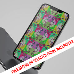Explore our abstract patterned phone wallpapers