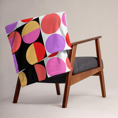 Throw blanket draped over a chair