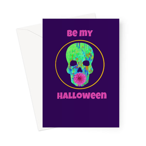 Be My Halloween spoopy greeting card