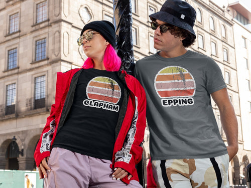 Clapham and Epping Vintage Sunset T-Shirts