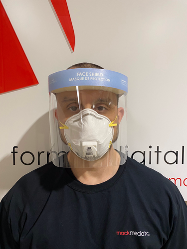 Regular Size Face Shield - Front View
