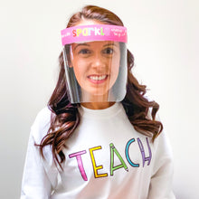 Load image into Gallery viewer, Teacher Inspired Face Shield Edition 2 - Regular Size - Splash Shield - 5 pcs.