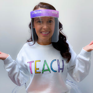 Teacher Inspired Face Shield Edition 2 - Regular Size - Splash Shield - 5 pcs.