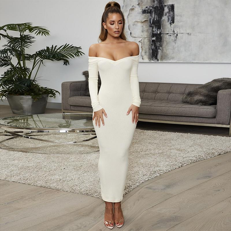 Sexy Fashion Deep V Bag Hip Long Dress