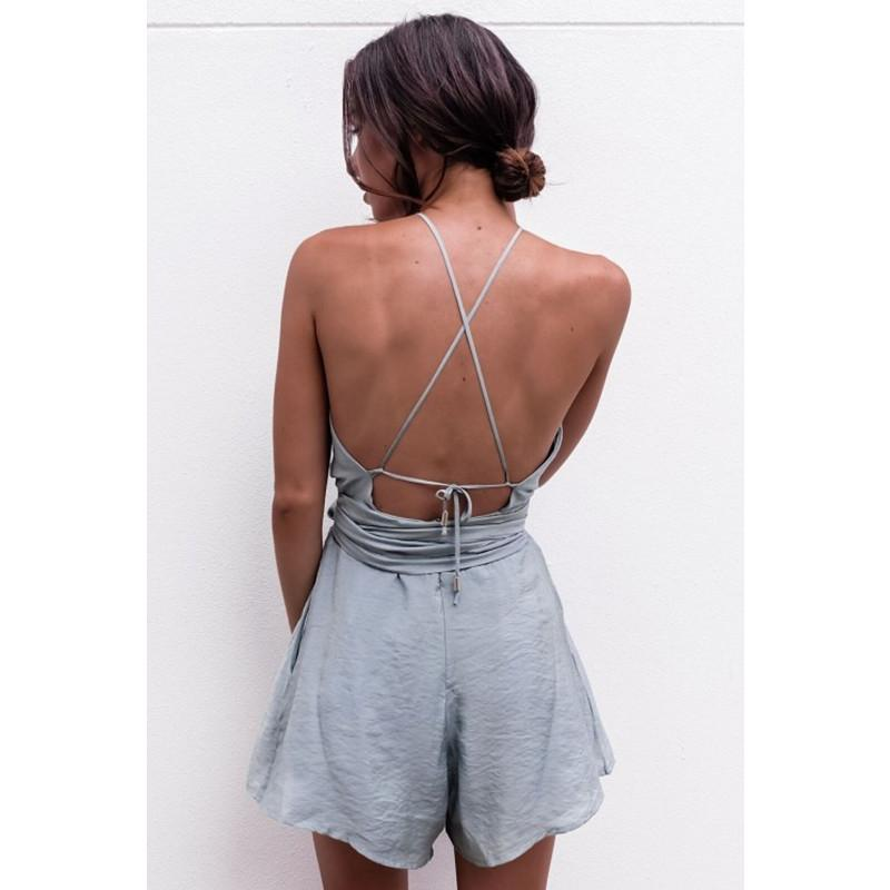 Casual Backless bodysuit - Asia-Peak