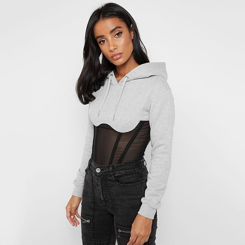 Sexy Mesh Sheer Hoodies