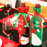 Christmas Bottle Cover Knitted Decor Bag