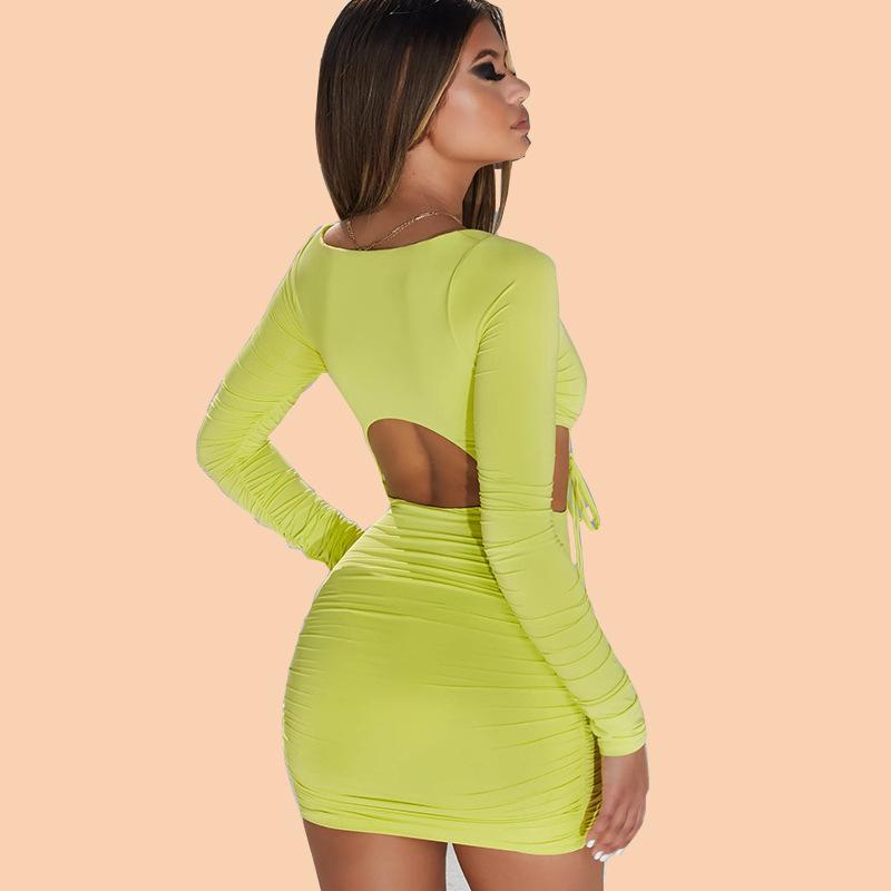 Sexy hollow out mini dress - Asia-Peak
