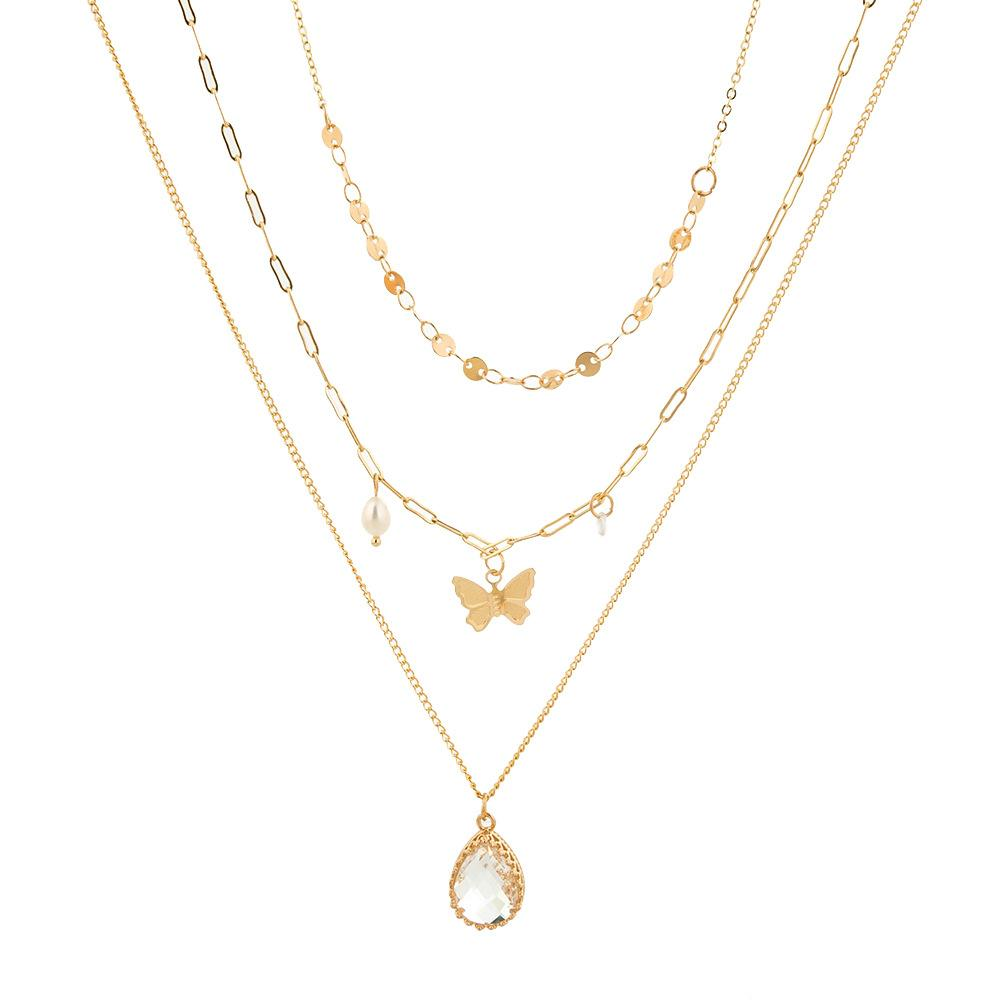 2020 New Creative Butterfly Three-dimensional Multi-layer Chain Necklace - Asia-Peak