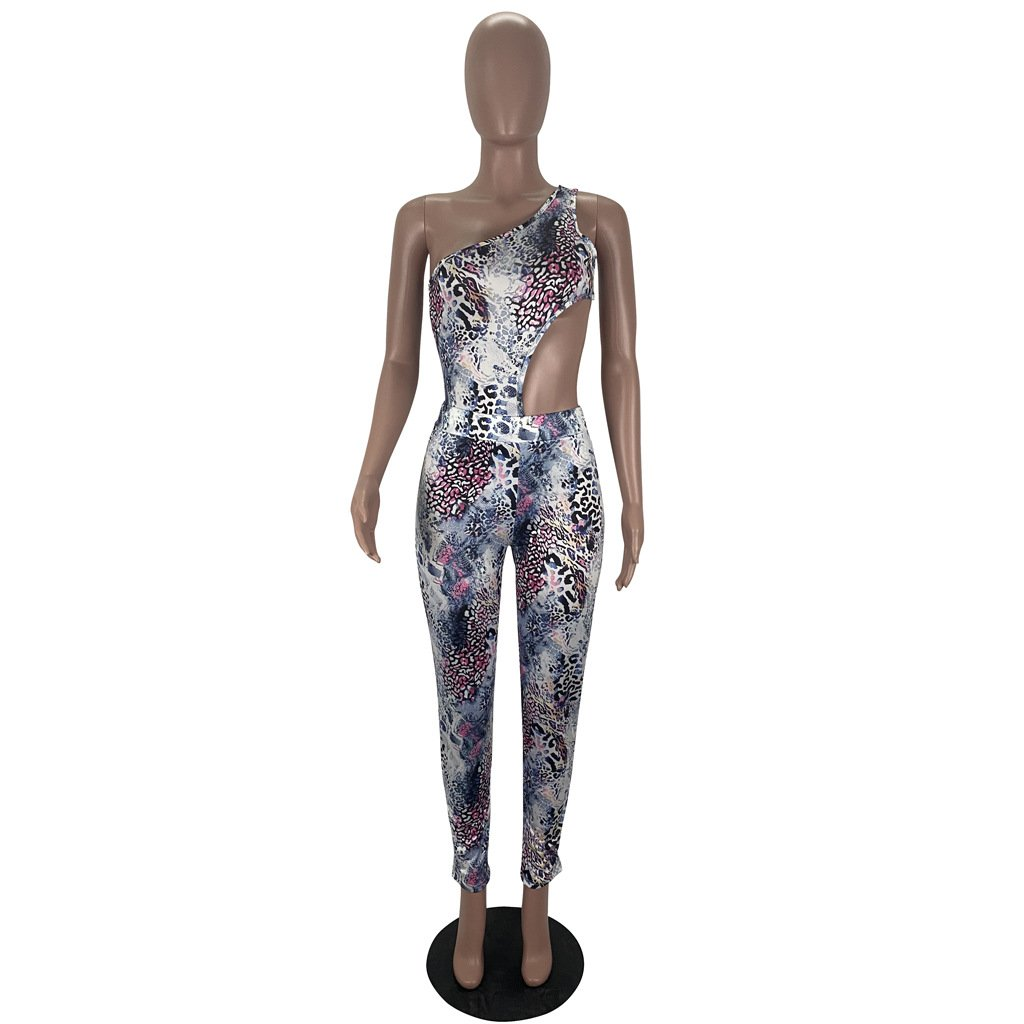 Snake print jumpsuit set (jumpsuit + leggings) - Asia-Peak