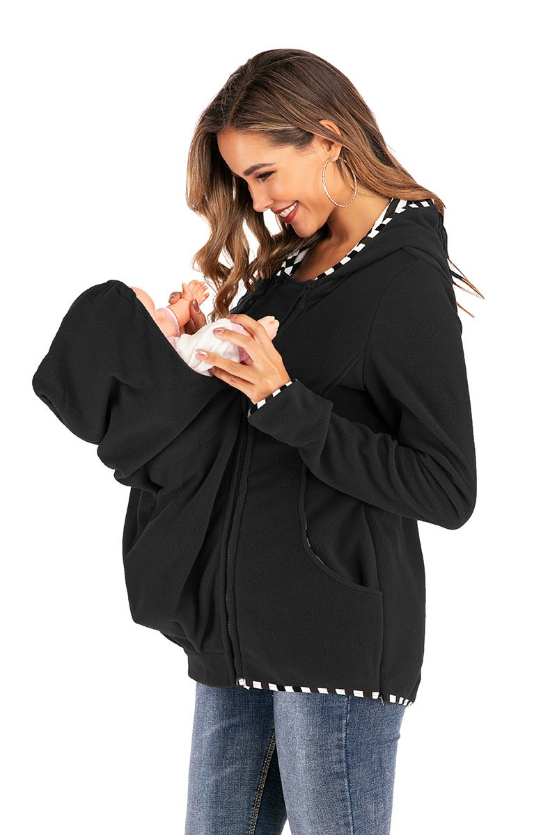 Multifunctional mother hoodie with baby pouch - Asia-Peak