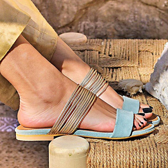Women Sandal with Combination of Thin Strip