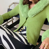 Macaron Green Knitted Top - Asia-Peak