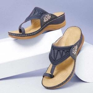 Stylish Wedge Sandals Embroidered