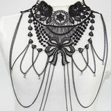 Gothic Victorian Lace Choker Necklace - Asia-Peak