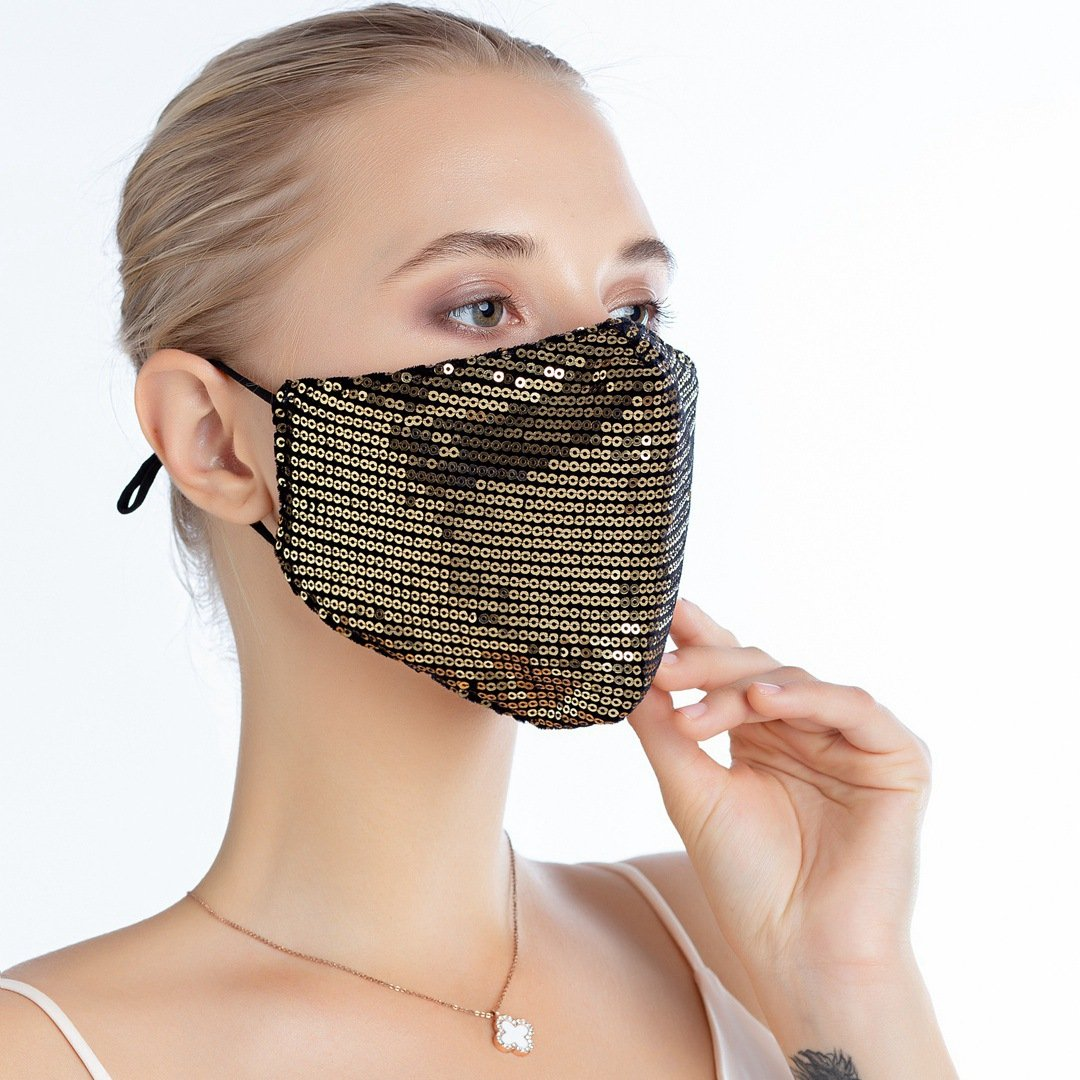 Fashion Sequin Design Face Mask - Asia-Peak
