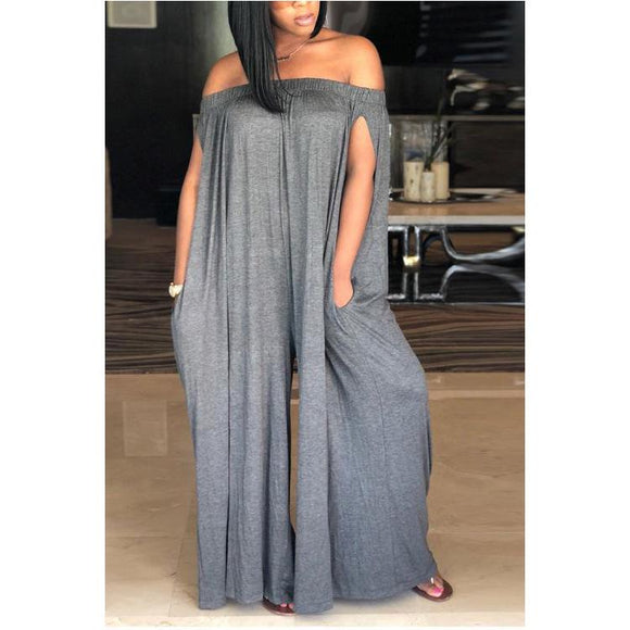 Shoulder Split Sleeve  Jumpsuit