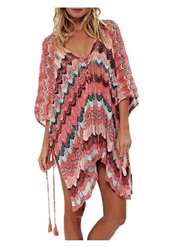 V Neck Half Sleeve  Swimwear Coverups - Asia-Peak