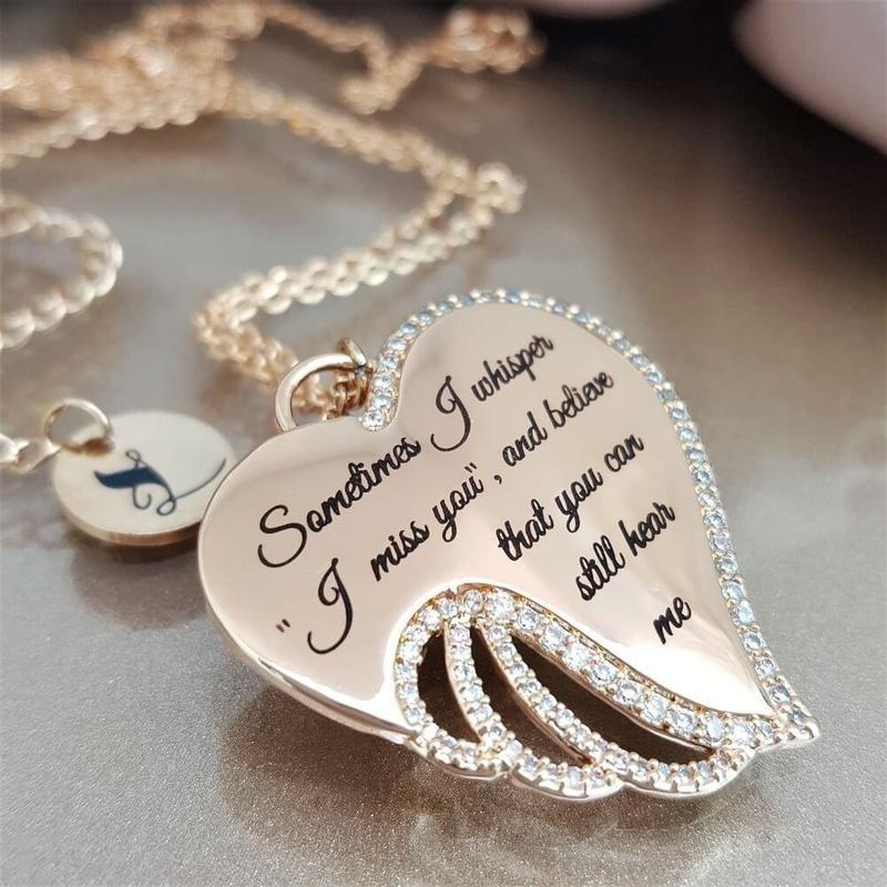 Heart Angel Wing Necklace