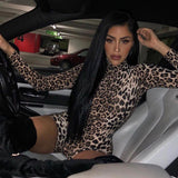 Tiger Leopard Print Sexy Bodycon Jumpsuit