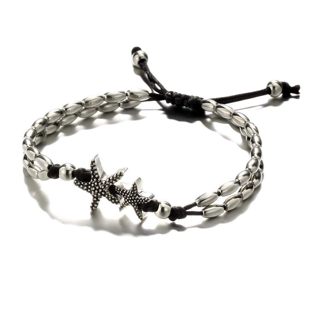 Women Starfish Rune Retro Ankle Chain Jewelry - Asia-Peak