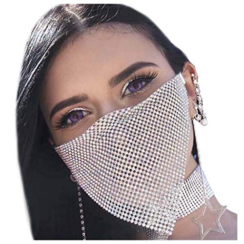 Exquisite Shiny Rhinestone Anti-dust Face Mask - Asia-Peak