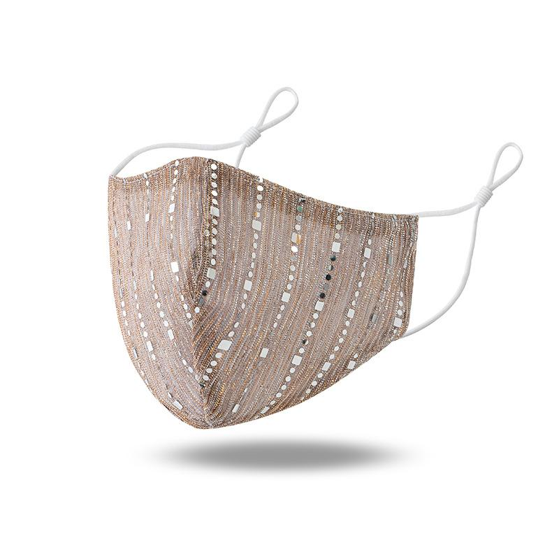 Glitter Striped Mask - Asia-Peak