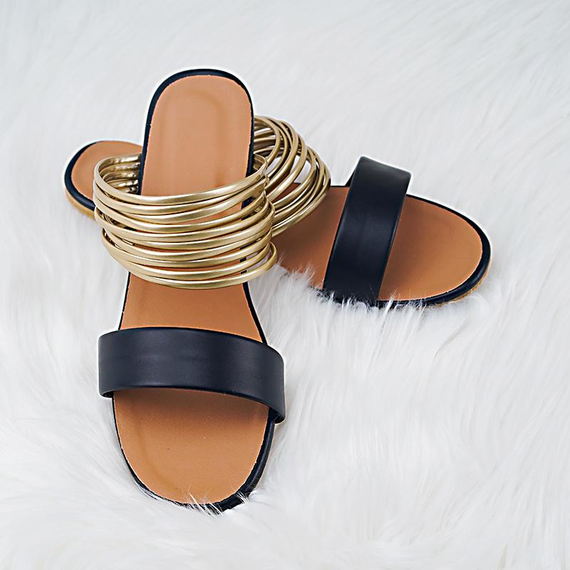 Women Sandal with Combination of Thin Strip - Asia-Peak