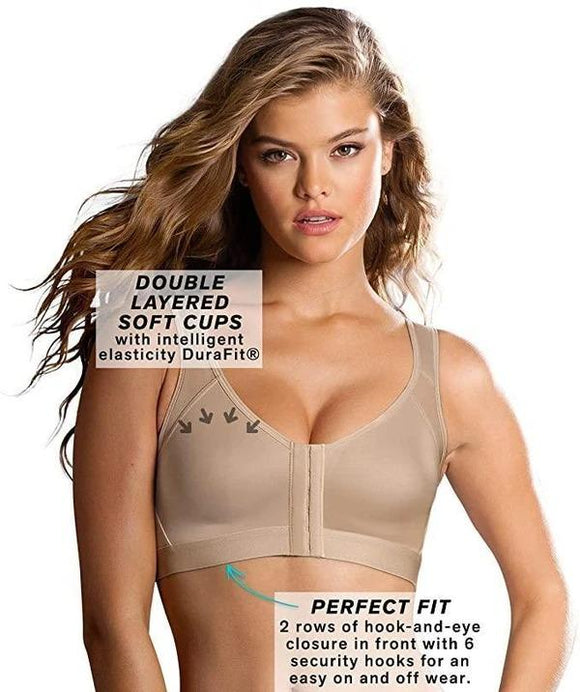 Front Closure  Wide Strap Leisure Bra