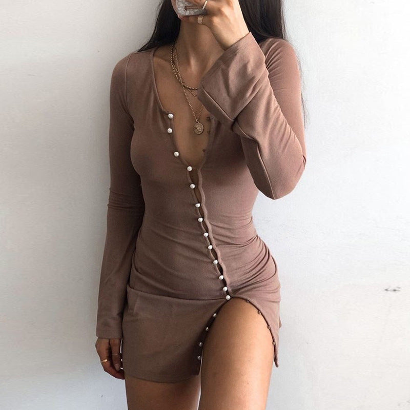 Breasted Sexy Cardigan Dress