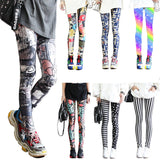 Fashion Leggings Sexy Casual Highly Elastic and Colorful Leg Warmer Leggins Pants Trousers Woman's Leggings
