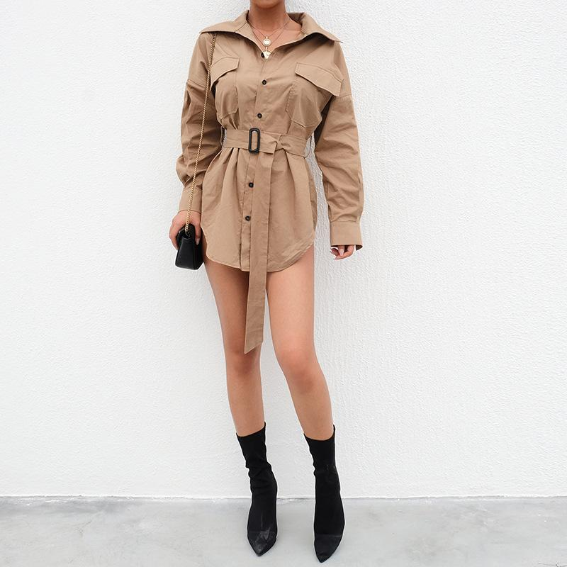 Commute Irregular Slim Short Trench Coat - Asia-Peak