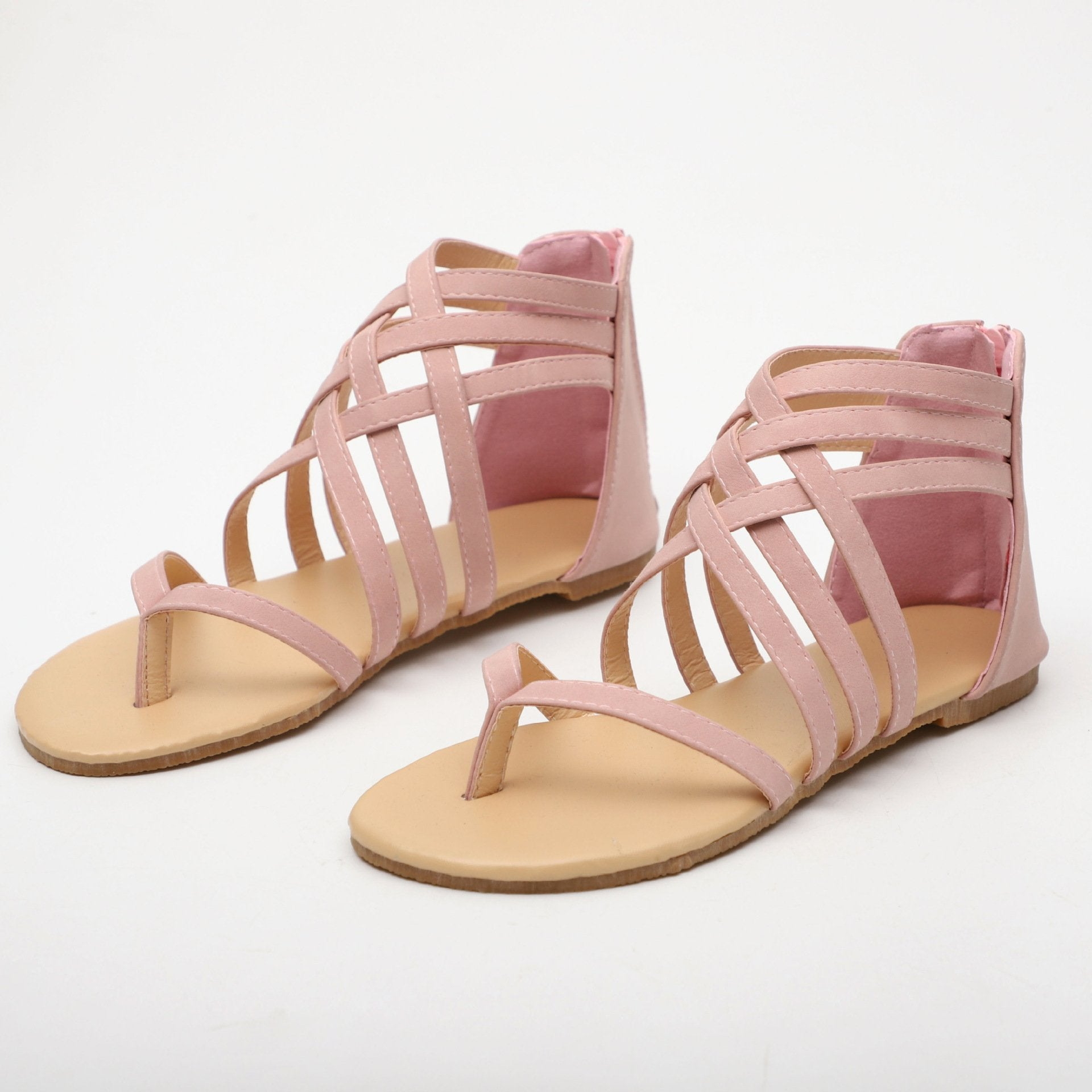Rome Style Gladiator Cross Tied Sandals