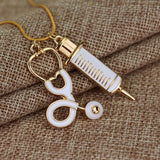 Doctor Stethoscope Syringe Necklace