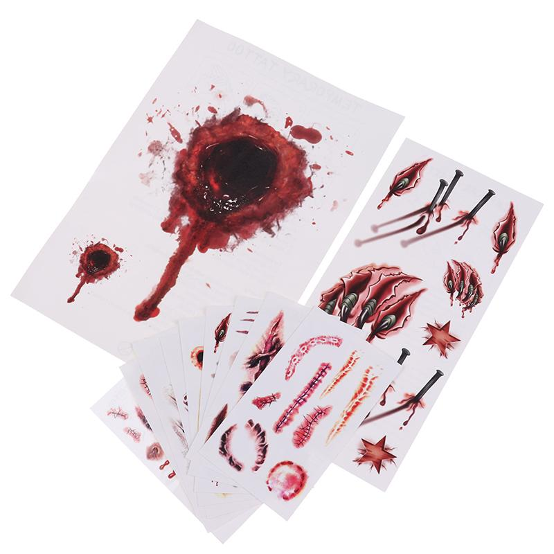 Realistic Blood Wound Temporary Tattoo(11pcs)