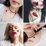 Realistic Blood Wound Temporary Tattoo(11pcs) - Asia-Peak