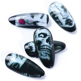 Halloween Horror Decals DIY Nail Stickers(25PCS)