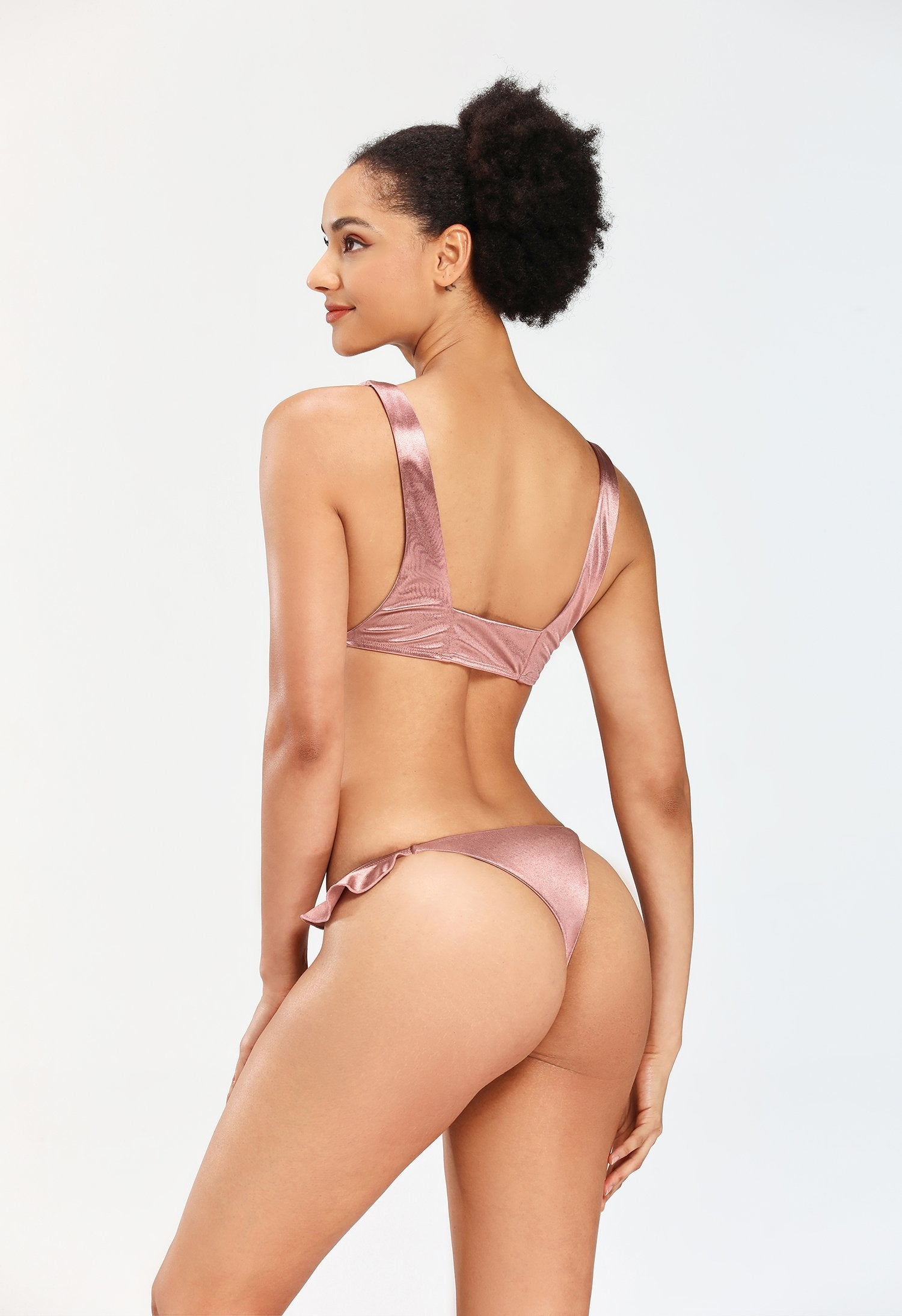 New Pink Frill Swimsuit - Asia-Peak