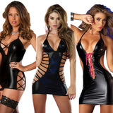 Sexy Leather Lingerie Women Underwear Sexy Costumes Dance Clubwear