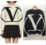 Letter Print Sweater Pullover