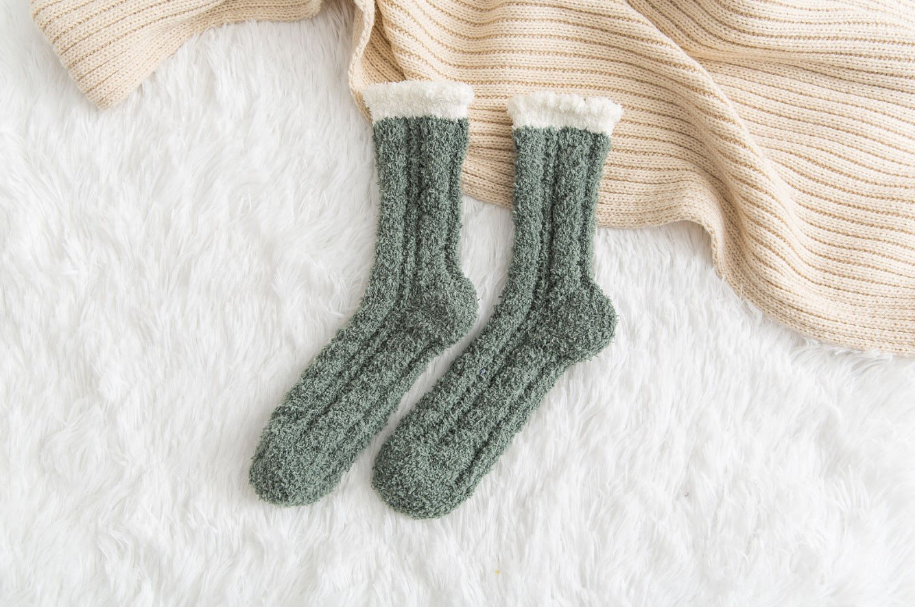 Thickened Warmth Fuzzy Socks Tube Socks Fluffy Socks for Autumn Winter