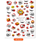 Halloween Bat Witch Pumpkin Nail Stickers