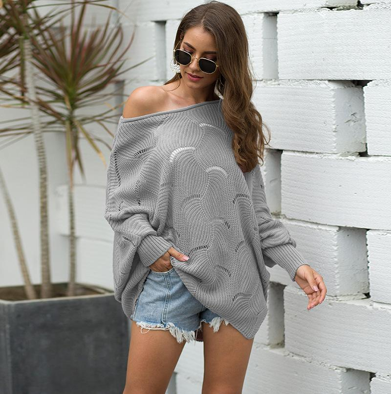 Unique Hollow Out Loose Sweaters - Asia-Peak
