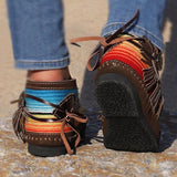 Cowgirl Leather Moccasins - Asia-Peak