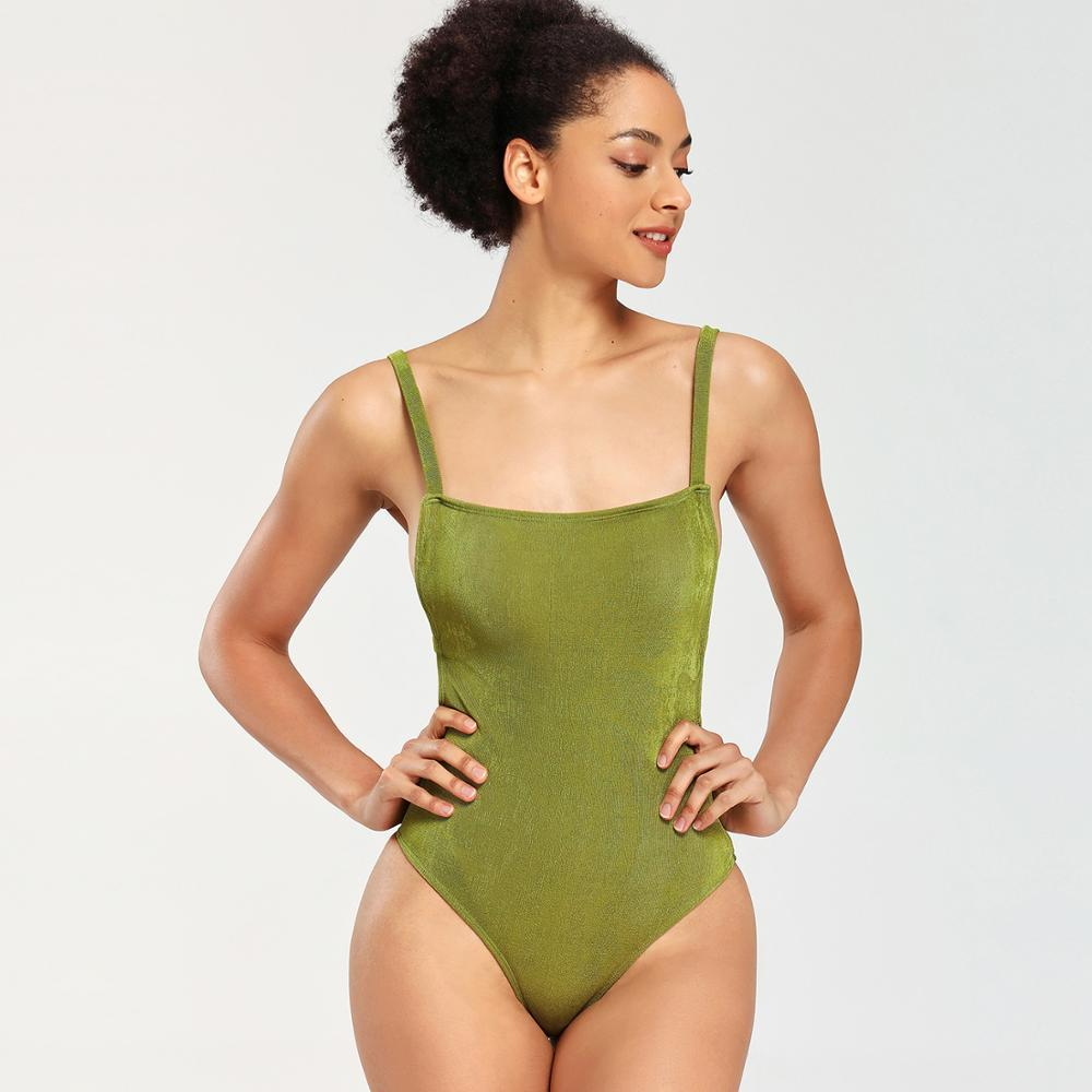 Pure Green One-piece Swimsuit