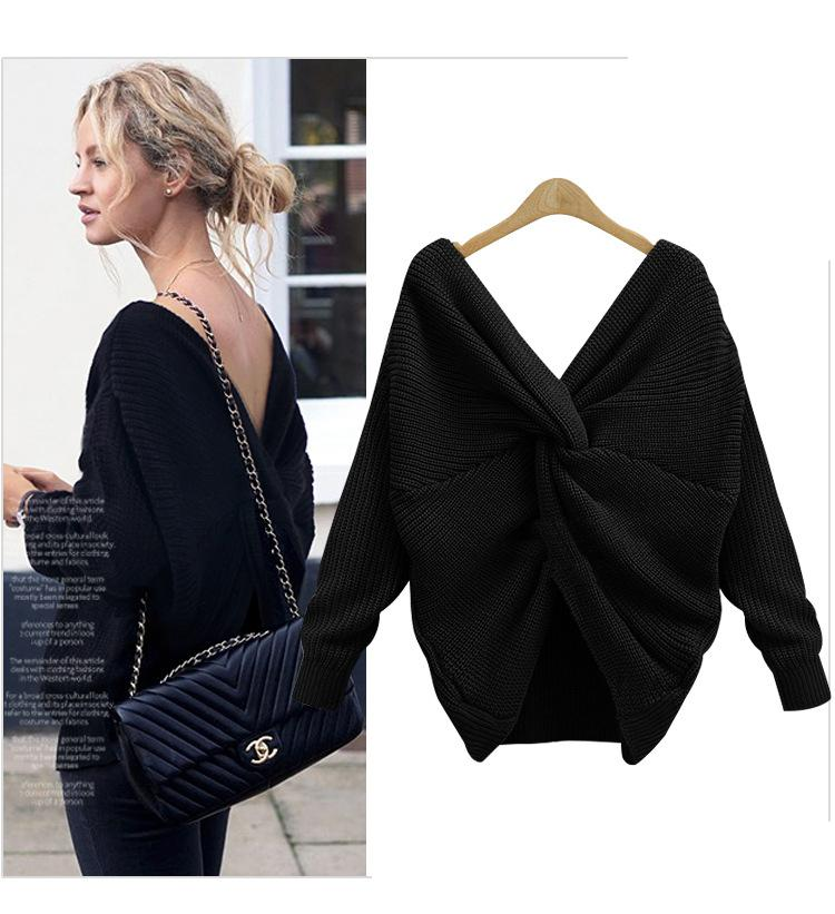 Irregular cross-knotted sweater - Asia-Peak