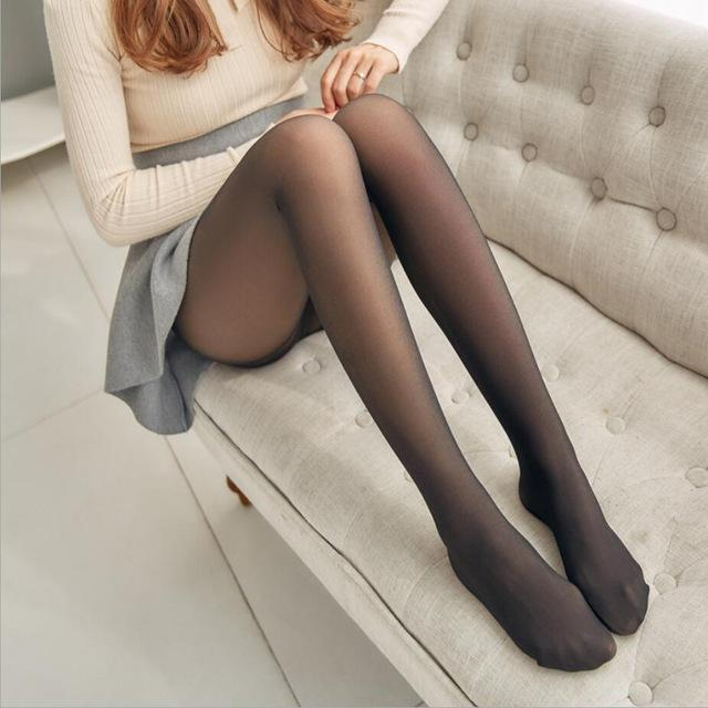 THERMAL TIGHTS - Fake Tights / Translucent Fleece Winter Leggings