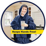 Blanket with Sleeves Oversized Fleece Hoodie